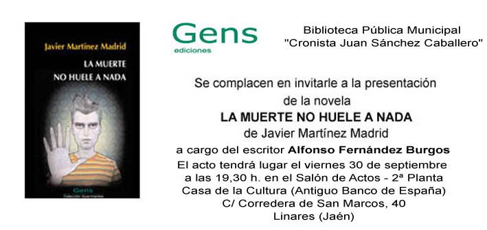 Invitación Javier Martínez Linares